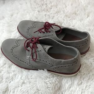 Timberland Mens Grey Leather Oxford Size 10.5